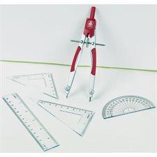 Ensemble de géométrie 6 pièces