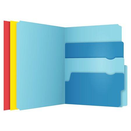 Chemise à dossier Divide-It-Up™ couleurs variées