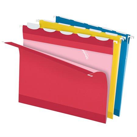 Dossiers suspendus renforcés avec Lift-Tab ReadyTab® Couleurs variées format lettre