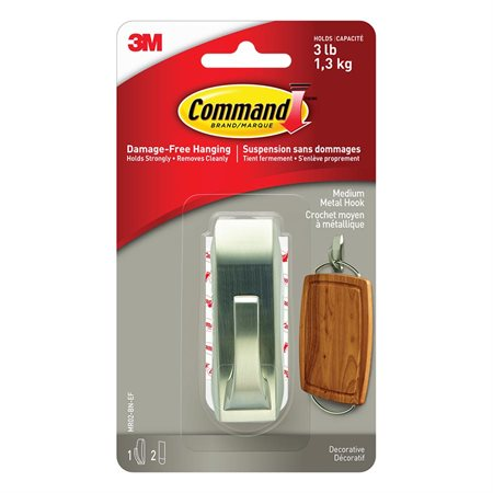 Command™ Metal Adhesive Hook