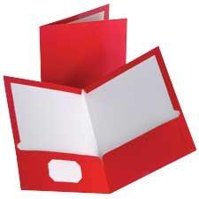 Couverture de présentation à double pochette Showfolio™ Paquet de 10 rouge