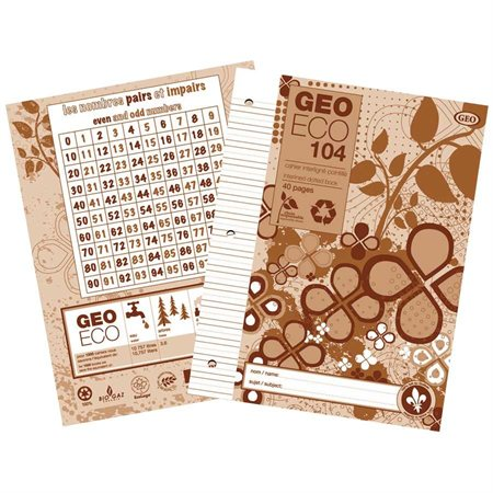 "GeoEco"" exercise book"