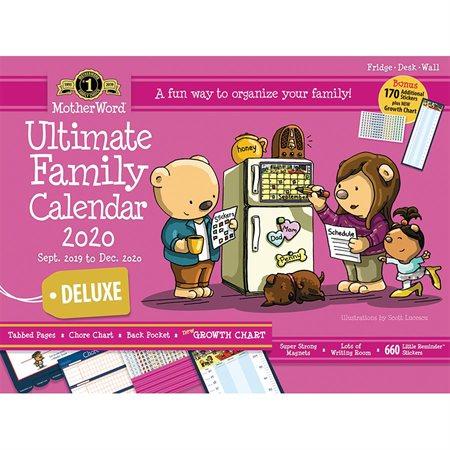 MotherWord® Family Fridge Calendar (2020