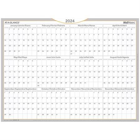 Surface de planification mensuelle auto-adhésive Wallmates®