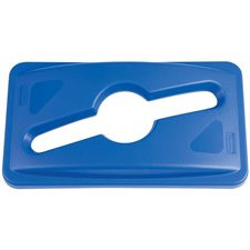 Lid for Slim Jim® Recycling Container Lid for paper & bottle blue