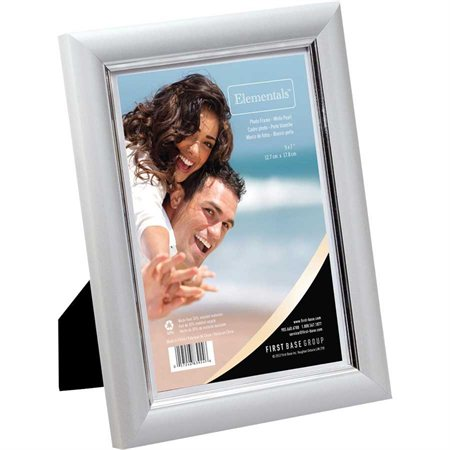 "Cadre à photos Elementals™ Perle blanche 5 x 7"""