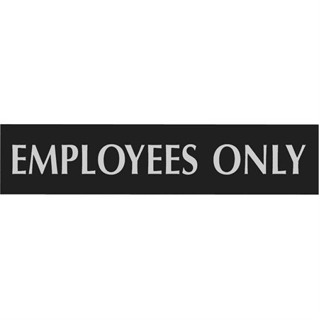 Enseigne d'identification Century anglais Employees only