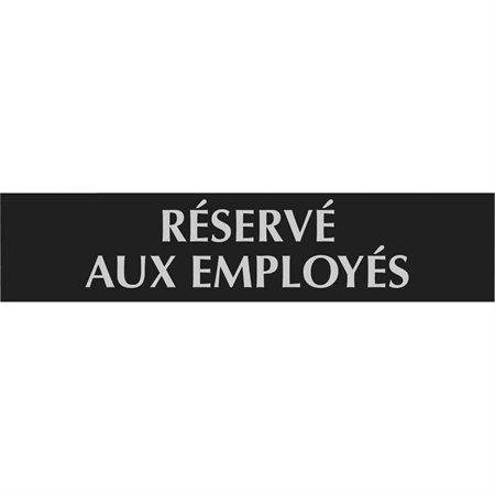 Enseigne d'identification Century français Réservé aux employés
