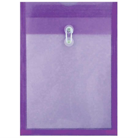 Enveloppe transparente expansible violet