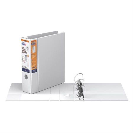 Reliure-classeur robuste Deluxe QuickFit® 3 po. blanc
