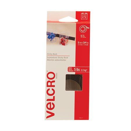 """Bandes autoadhésives Velcro® 3 / 4"""" x 5' noir"""