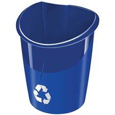 Corbeille de recyclage Ellypse bleu