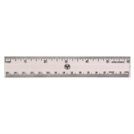 """Règle transparente en plastique rigide 15 cm métrique /  6"""""""