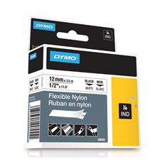 "Rhino Industrial Printing Tape Cassette Nylon 1/2"" (white)"
