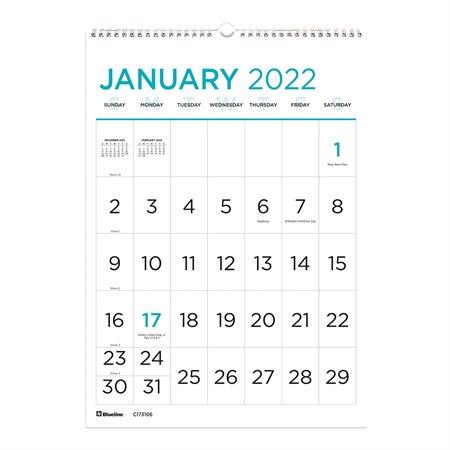 Large Print Wall Calendar (2021)