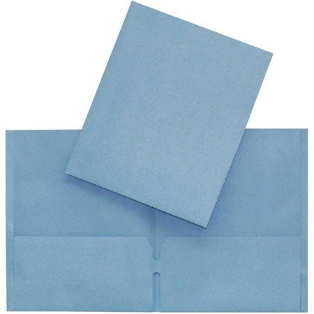 Couverture de présentation à pochettes bleu pâle
