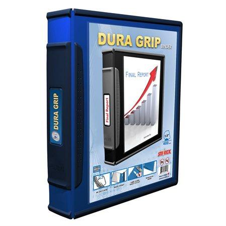 Reliure de présentation Dura Grip 1-1 / 2 po. - cap. 400 feuilles bleu