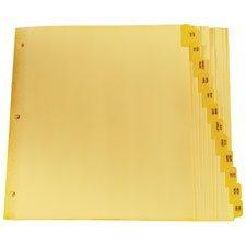 Intercalaires imprimés Lettre JAN-DEC