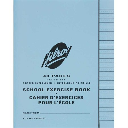 Interlined exercise notebook