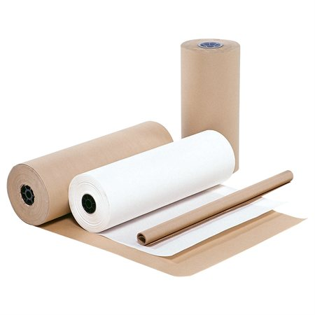 "Papier d'emballage Kraft 24"" x 900', 40 lb blanc"