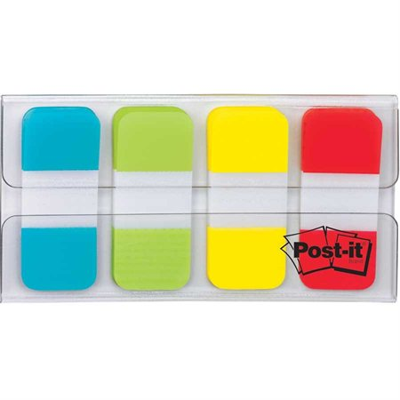 Onglets en 4 couleurs Post-it® bleu, vert, jaune et rouge