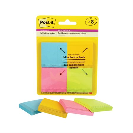 Post-it® Super Sticky Full Stick Notes