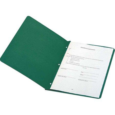 Couverture de présentation À l'unité vert foncé