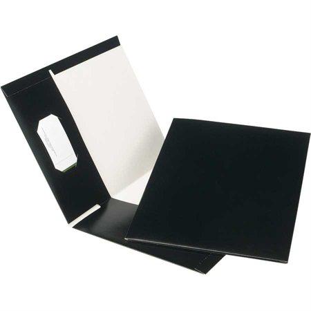 Couverture de présentation recyclée à 100 % Earthwise® noir