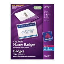 Identification badges with clip