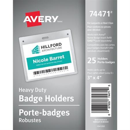 Porte-insigne robuste horizontal