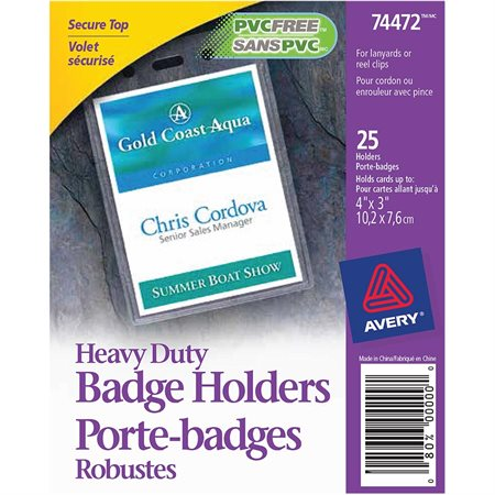 Heavy-duty badge holders