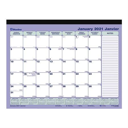 Sous-main mensuel magnétique (2021)