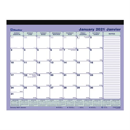 Monthly Magnetic Desk Pad (2021)