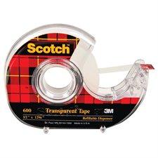 Ruban adhésif transparent Scotch® Dévidoir 12 mm x 33 m