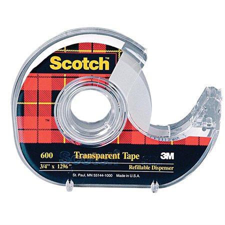 Scotch® Transparent Adhesive Tape Dispenser 18 mm x 33 m