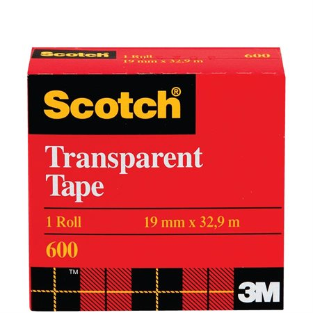 Ruban adhésif transparent Scotch® Recharge 18 mm x 33 m