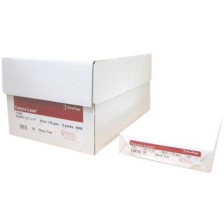 Papier laser glacé Futura® Paquet de 500. 80 lb, texte. lettre