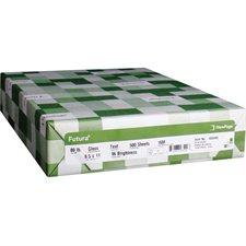 Papier laser glacé Futura® Paquet de 250. 80 lb, couverture. lettre