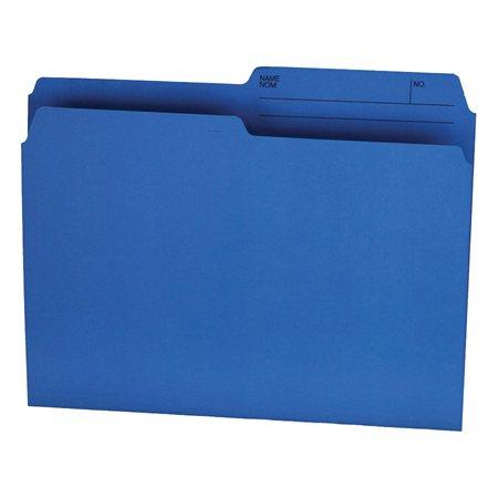 Chemises à dossier Format lettre bleu