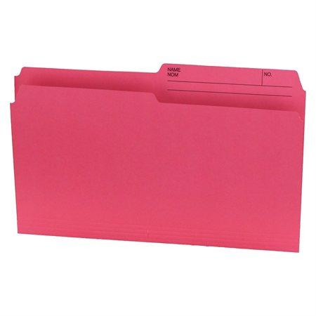 Chemises à dossier Format légal rose