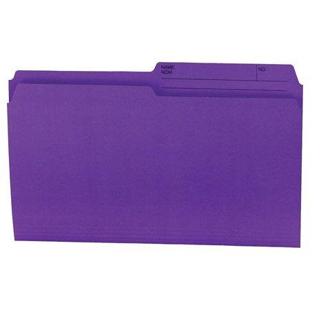 Chemises à dossier Format légal violet