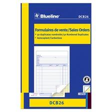 Formulaires de vente 5-3/8 x 8 po. duplicata (bilingue)
