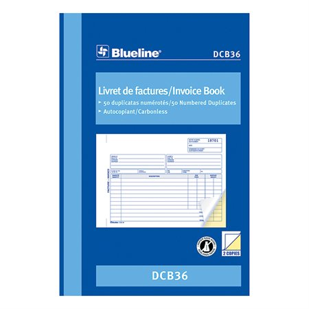 Invoice Book 5-3 / 8 x 8 in. duplicate (bilingual)