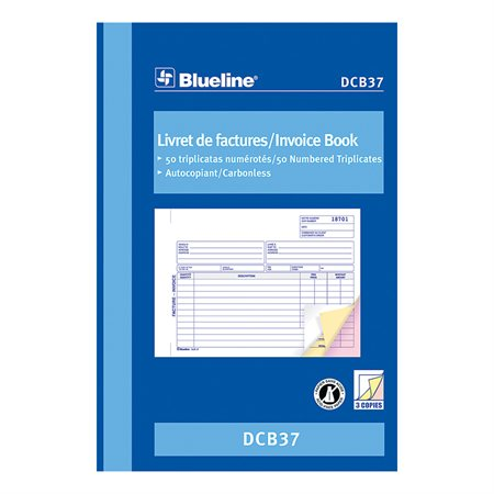 Invoice Book 5-3 / 8 x 8 in. triplicate (bilingual)