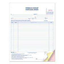 Formulaires d'achat 8-1 / 2 x 11 po triplicata (bilingue)