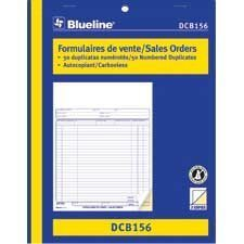 Sales Orders 8-1 / 2 x 11 in. duplicate (bilingual)