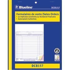 Sales Orders 8-1 / 2 x 11 in. triplicate (bilingual)