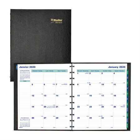 Agenda mensuel MiracleBind™ CoilPro™ (2020) 11 X 9-1 / 16 po.