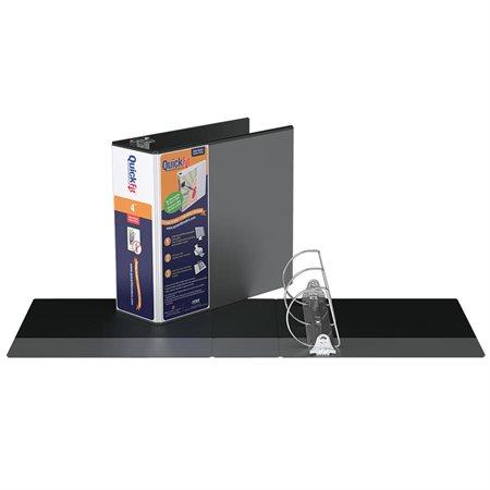 Reliure de présentation QuickFit® 4 po., avec mécanisme verrouillable noir