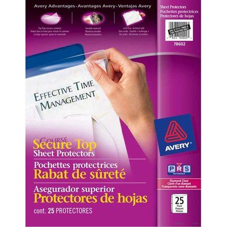 Pochettes protectrices avec rabat de sécurité